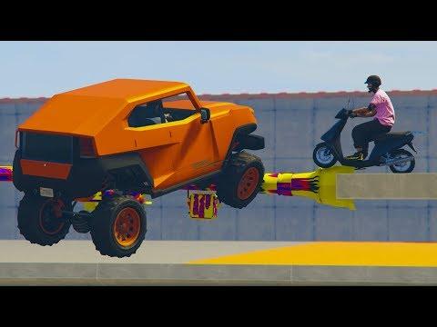 CORRE O TE ATROPELLO! CON MOTOS! - GTA 5 ONLINE - GTA V ONLINE