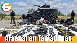 Aseguran  arsenal en Tamaulipas