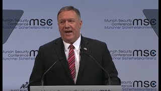 DROPPING BOMBS: Mike Pompeo RIPS Globalists in Munich at Security Conference Speech - GST
