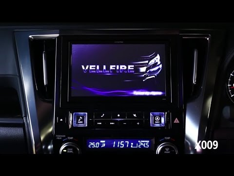 X009 The 9 Inch Navigation Display Head Unit Exclusively Designed for  Toyota Alphard & Vellfire 2015
