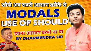 Modal Verbs | Concept & Use of Should in English Grammar by Dharmendra Sir | For SSC CGL/BANK/UPSC thumbnail