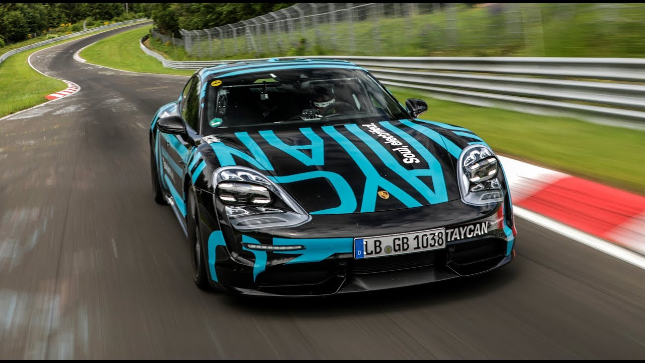 2020 Porsche Taycan sets four,door electric car record at the Nurburgring