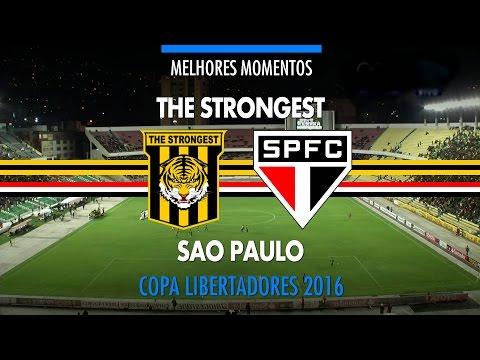 Melhores Momentos - The Strongest-BOL 1 x 1 São Paulo - Libertadores - 21/04/2016