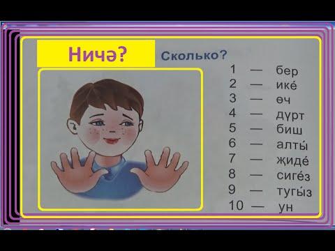 Татарский язык/1 класс/для русскоязычных/Цифры 1-10/Саннар
