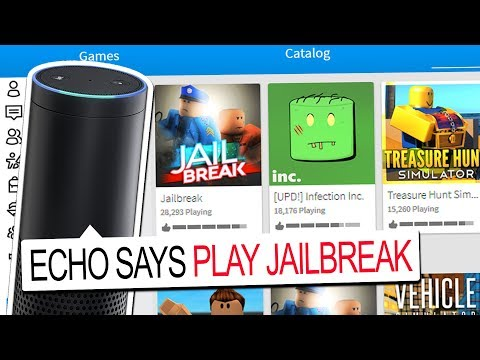 AMAZON ECHO CHOOSES WHAT GAME I PLAY!! (Roblox)