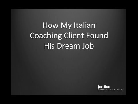 [Interview] How My Italian Coaching Client Found His Dream Job