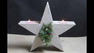 Weihnachtsdeko : stehender Stern DIY- Christmas Standing star