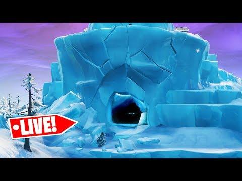 *NEW* POLAR PEAK CRACKING EVENT LIVE in Fortnite! (INSIDE POLAR PEAK CAVE REVEALED)