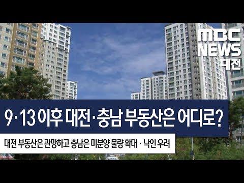 [대전MBC뉴스]9·13 이후 대전 부동산 관망