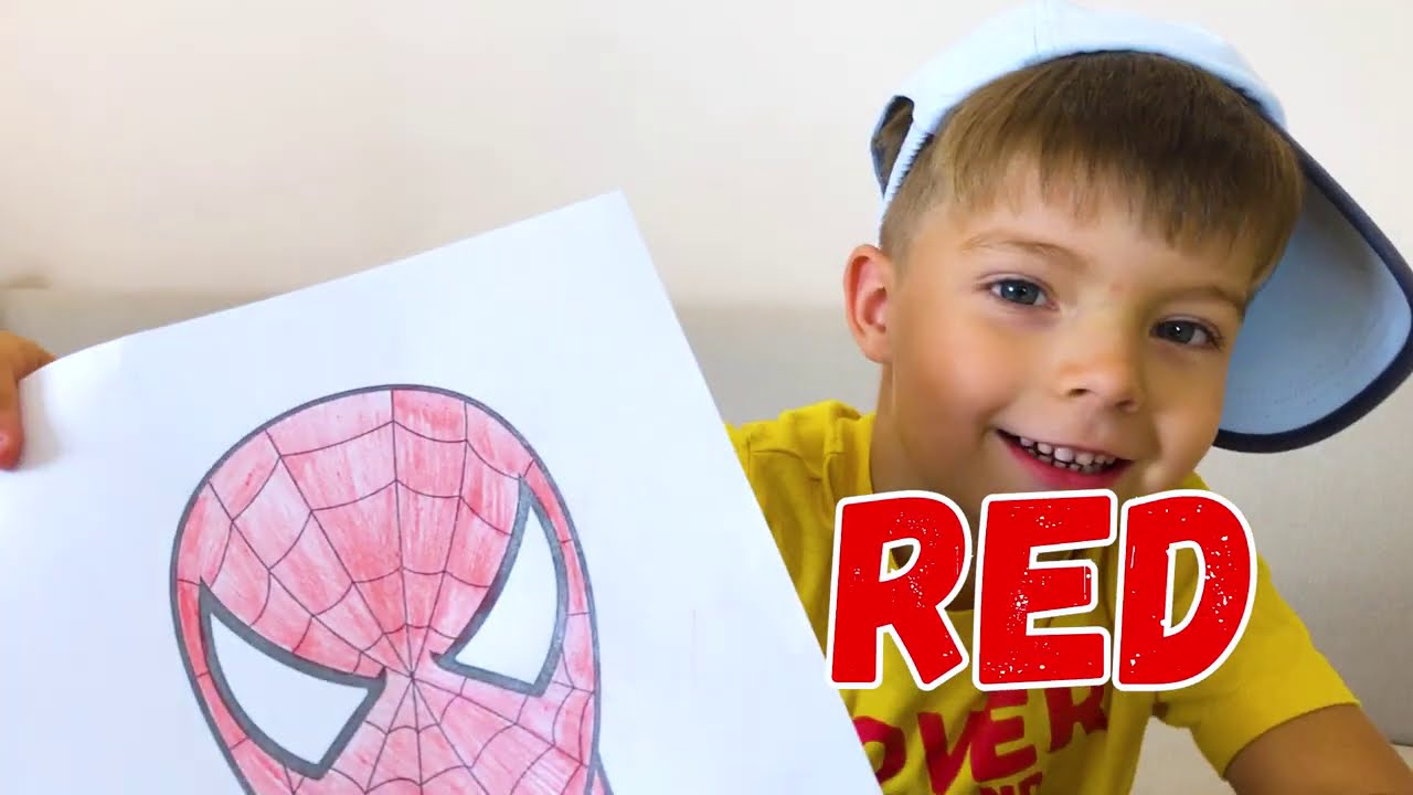 Superheroes dance with Nikki I colors with superheroes