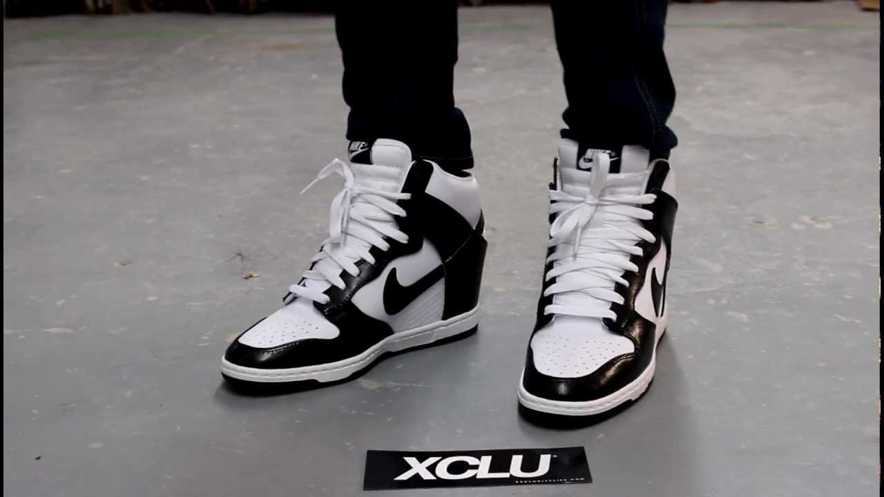 finest selection 193c3 f6895 WMNS Nike Dunk Sky High - Black - White - On-feet Video at Exclucity -  YouTube