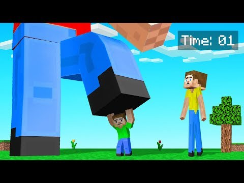 MINECRAFT But You CHANGE SIZE Every 10 SECONDS!