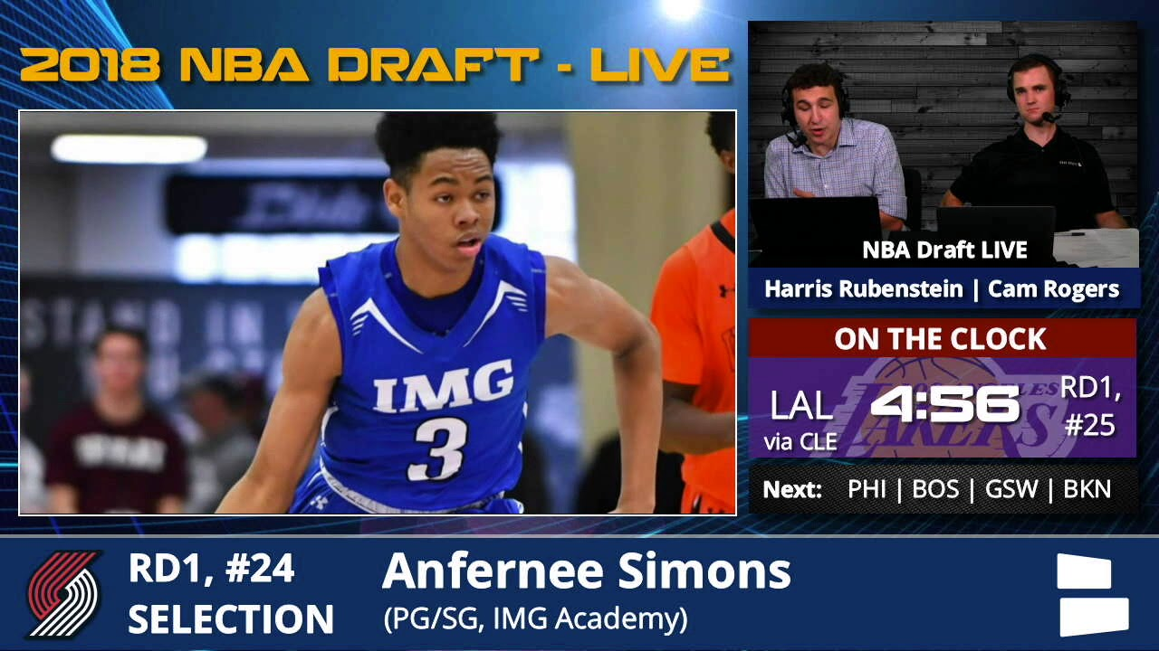 Portland Trail Blazers Select Anfernee Simons From With Pick  24 In 1st  Round Of 2018 NBA Draft f6796afc4