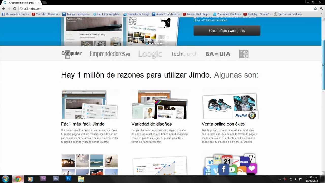 Tutorial Jimdo 1 Crear Mi Pagina Web Con Jimdo Youtube