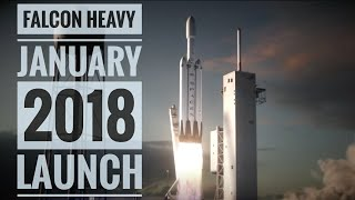 SpaceX - Falcon Heavy launch (Jan 2018) Animation.