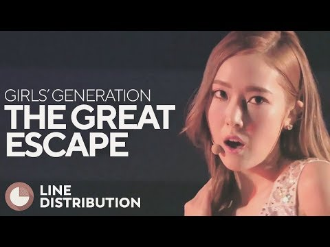GIRLS' GENERATION - The Great Escape (Line Distribution)