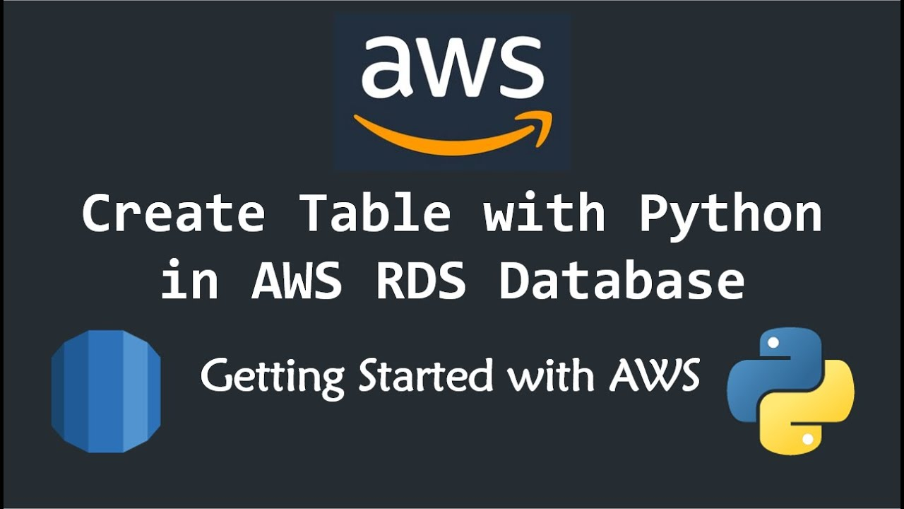 How Connect AWS RDS with Python using PyMySQL