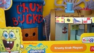 Spongebob Squarepants Krusty Krab Playset Imaginext Video Toy Review