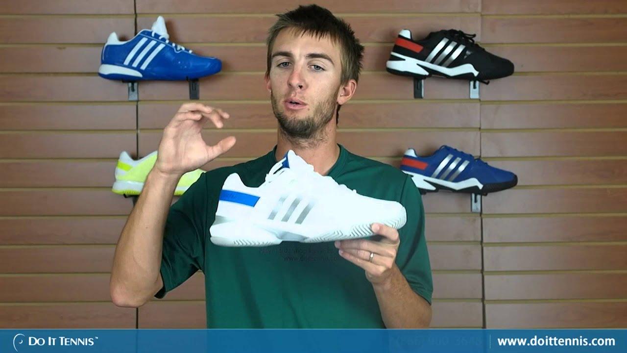 adidas barricata 8 uomini di scarpe da tennis (bianco / blu / silver) su youtube