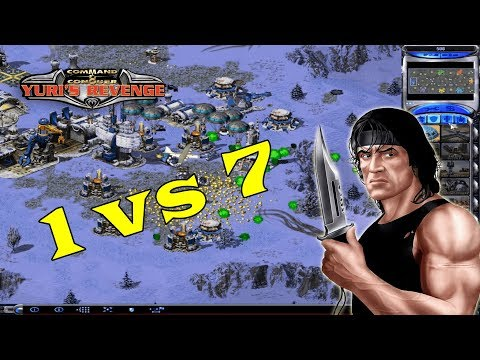 Red Alert 2 - me vs 7 Brutal AI + super weapons