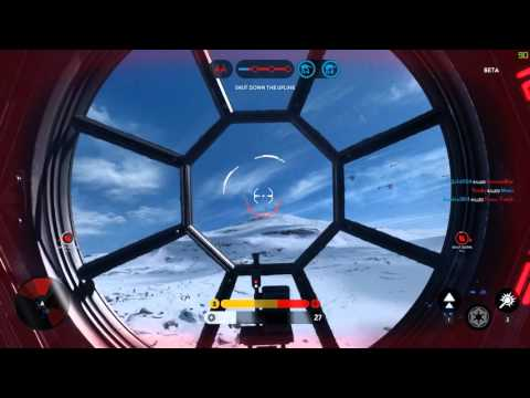 TIE Fighter gameplay PC Ultra Settings - Star Wars Battlefront