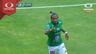 Gol de Vinicio Angulo |  Pumas 1 - 3 León | Clausura 2019 - J 8 | Televisa Deportes