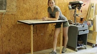 Make A Folding T-track Table