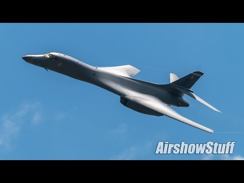 B-1B Lancer Flybys and Arrival - EAA AirVenture Oshkosh 2017