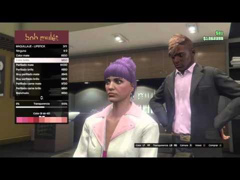 GTA 5 nuevo color de cabello a morado