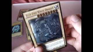 YuGiOh Gold Series 5 Ghost Gold Rare Blue Eyes White Dragon