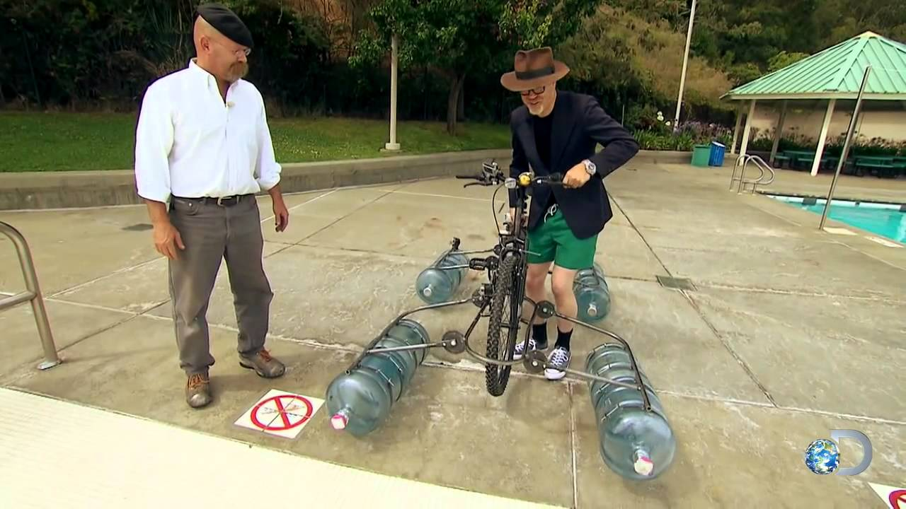 Amphibious Bike Minimyth Mythbusters Youtube