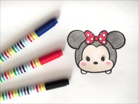 ツムツムミニーマウスの描き方 ディズニーイラスト how to draw Minnie Mouse 그림