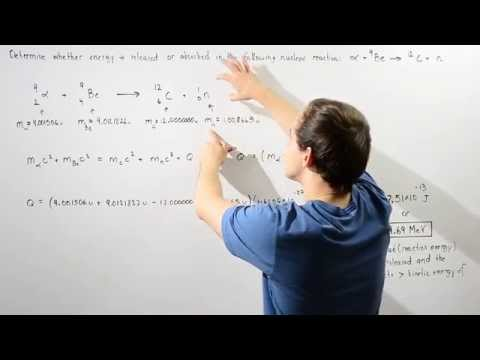 Exoergic Nuclear Reaction Example