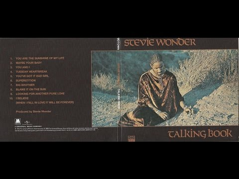 """STEVIE WONDER. """"You Are The Sunshine Of My Life"""". 1972. album """"Talking Book""""."""