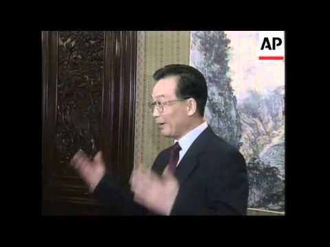 Wen Jiabao meets Tung Chee Hwa