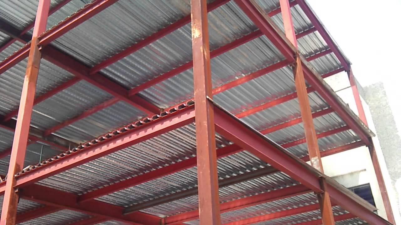 Estructura met lica aceros federales venezuela youtube - Estructuras de acero para casas ...