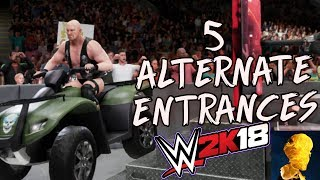 5 Alternate Entrances in WWE 2K18! - Stone Cold, Eddie Guerrero, Neville, Xavier and Daniel Bryan!