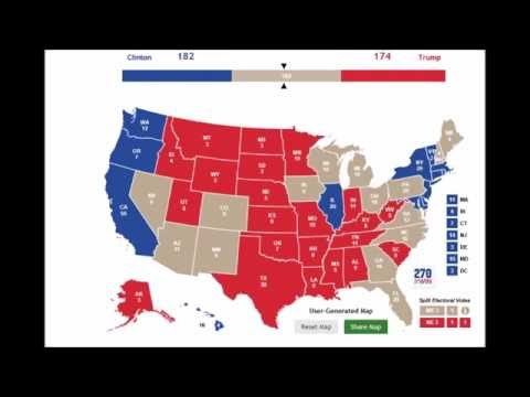 September US Presidential Election Map Prediction The - 2016 us presidental election map