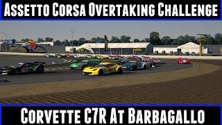 Assetto Corsa Overtaking Challenge Corvette C7R At Barbagallo