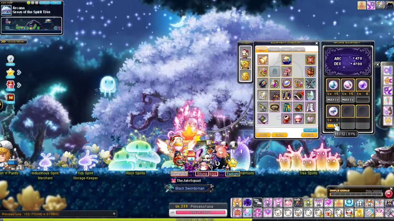 Maplestory Leveling Up My Forest Of Arcana Arcane Symbol Youtube
