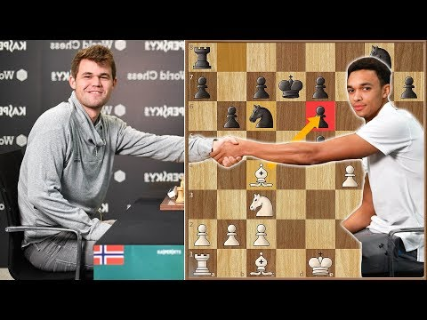 Magnus Carlsen Beats Liverpool Defender Trent Alexander-Arnold in 17 Moves!