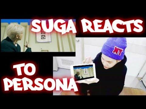 BTS SUGA REACTS TO PERSONA!