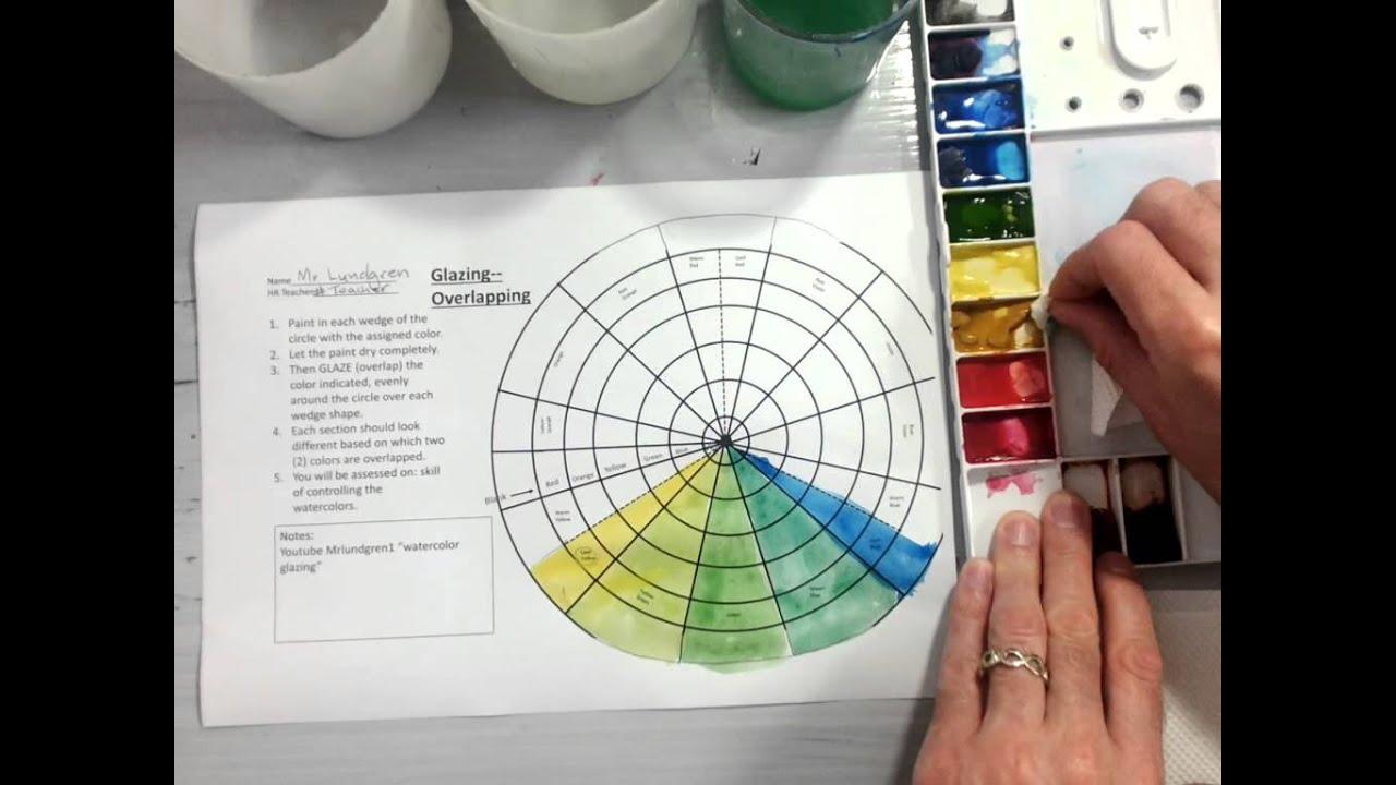 Color Wheel Watercolor Glazing Part 1 2