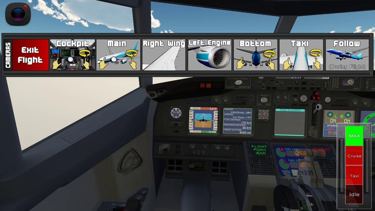 Hướng dẫn chơi lái máy bay mô phỏng Flight 787