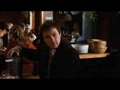 Harvey Keitel. FINGERS. Restaurant scene.