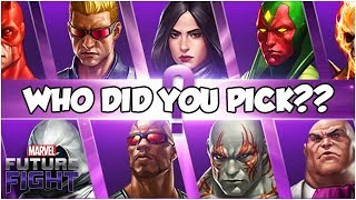 WE VOTE 👉 A HERO GETS *STRONGER* - Marvel Future Fight
