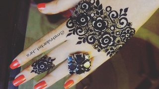 Beautiful khaleeji dubai gulf arabic glove henna mehndi designs for hands for eid,diwali tutorial