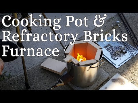 Making a Cooking Pot and Refractory Bricks Furnace