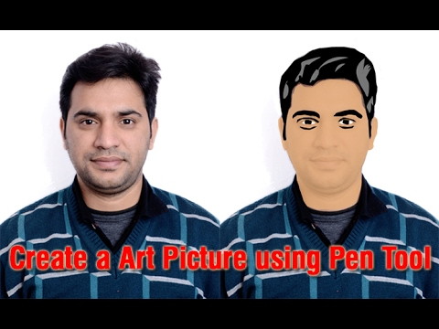 How to make clipart image in Photoshop using Pen Tool - YouTube