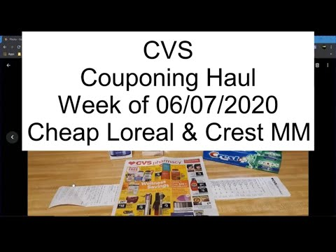 Couponing: CVS Haul - Week Of June 7 2020 - Crest Money Maker And More